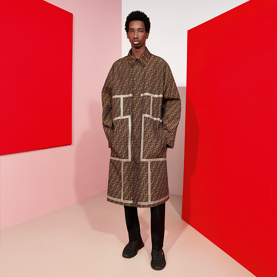 FENDI TRENCH COAT - Brown fabric trench coat - view 4 detail