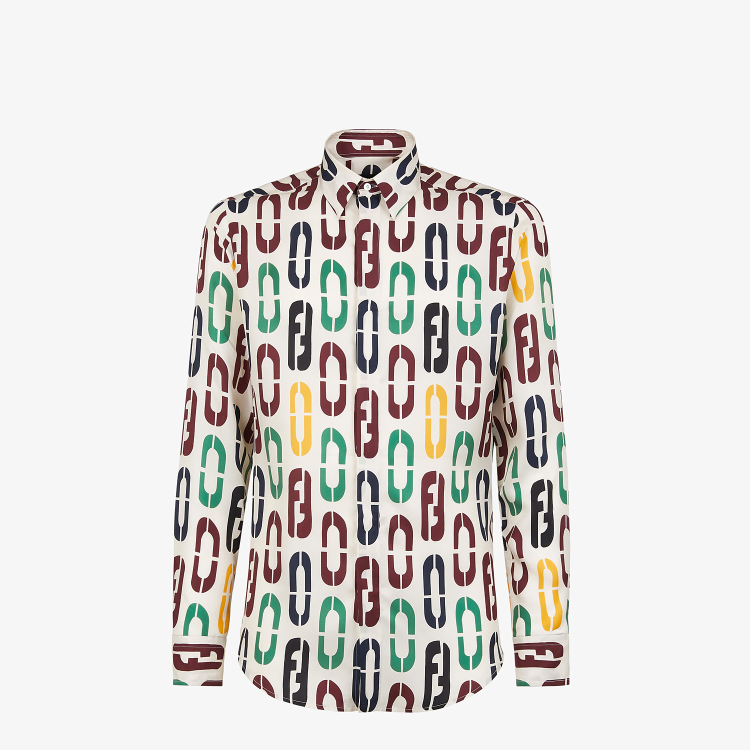 FENDI SHIRT - Multicolor silk shirt - view 1 detail
