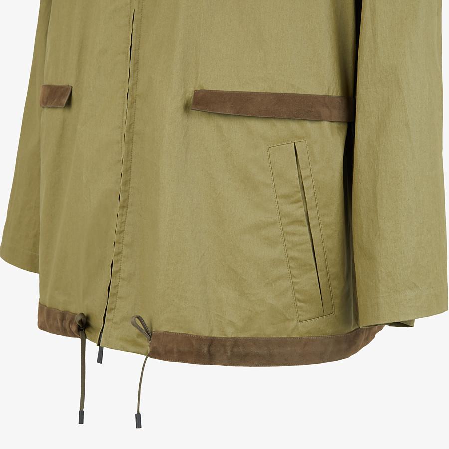 FENDI BLOUSON JACKET - Green cotton trench coat - view 4 detail