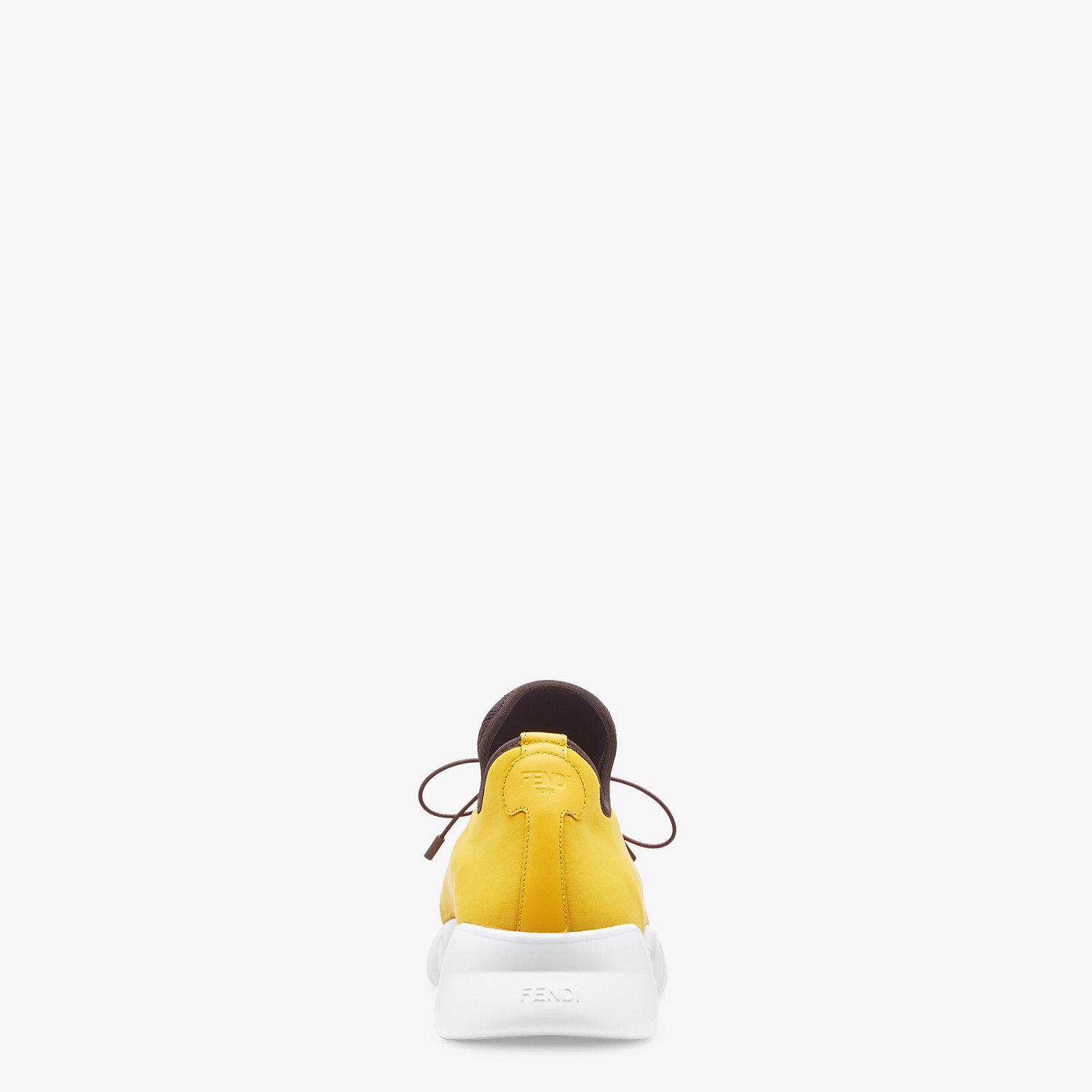 FENDI SNEAKERS - Yellow fabric high-tops - view 2 detail