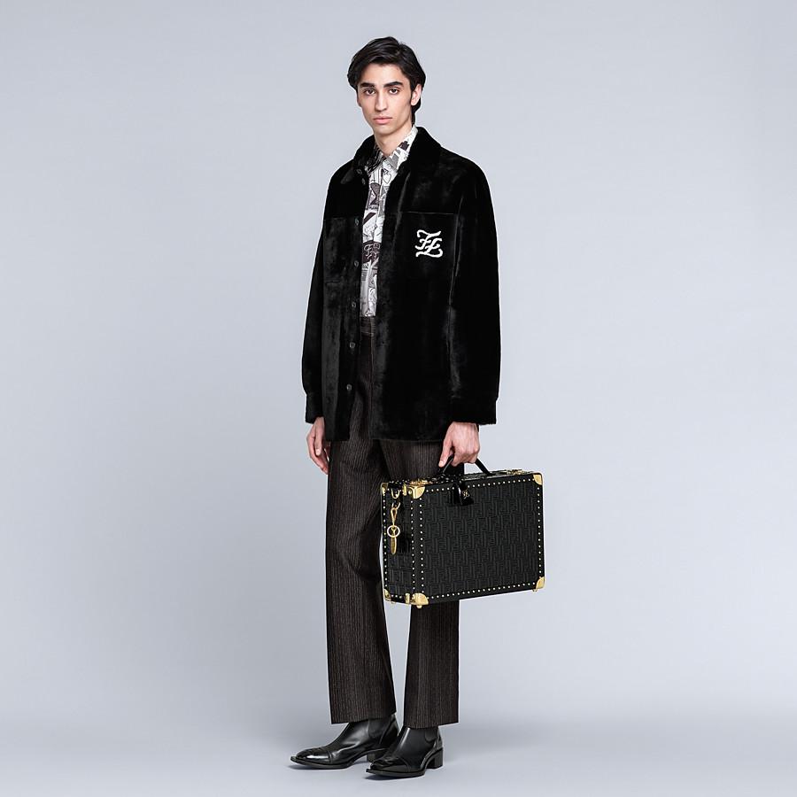 FENDI RIGID SUITCASE MEDIUM - Black leather suitcase - view 6 detail
