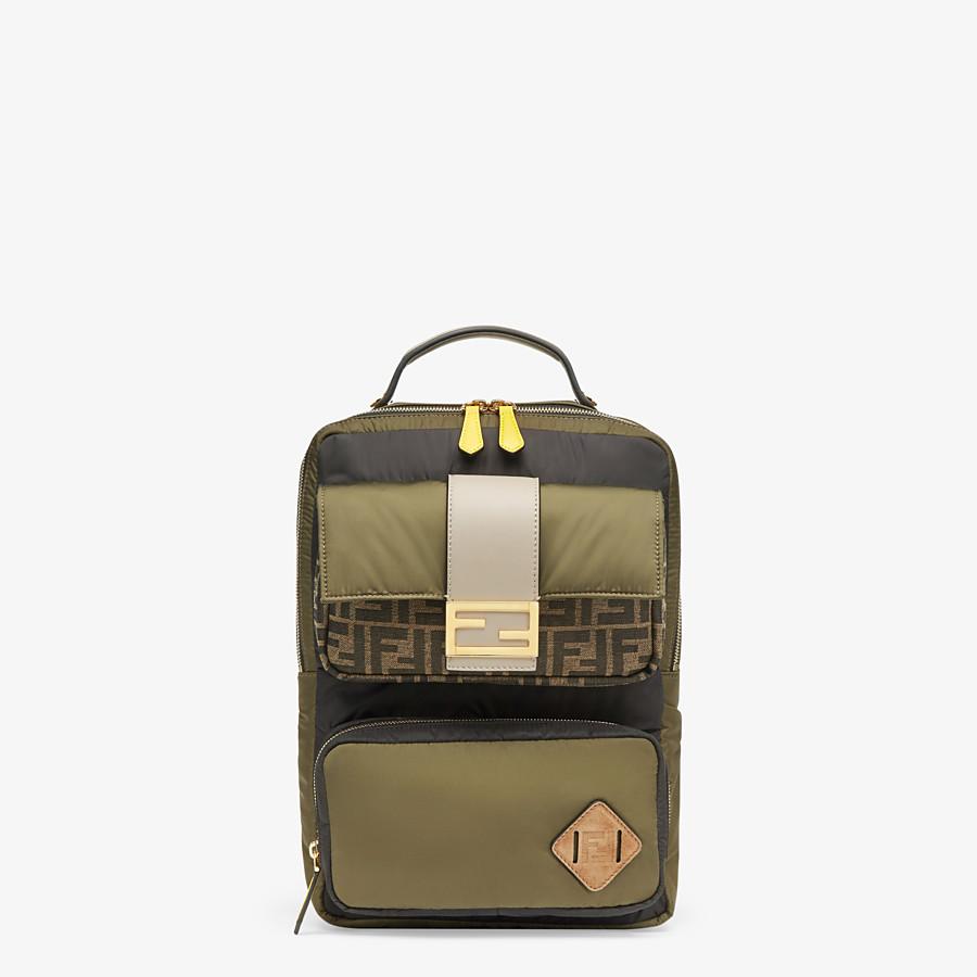 FENDI BACKPACK - Green nylon backpack - view 1 detail