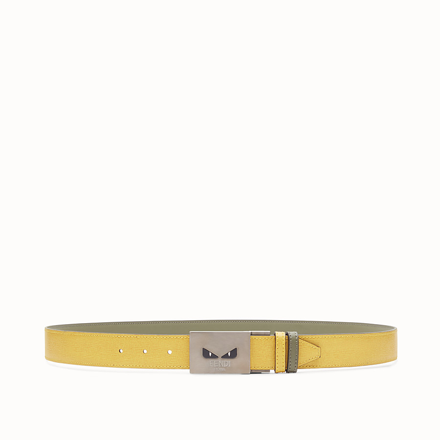 FENDI BELT - Yellow and green reversible belt - view 1 detail
