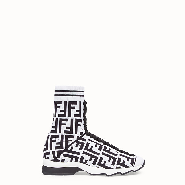 FENDI SNEAKERS - Bottes-sneakers en tissu multicolore - view 1 small thumbnail