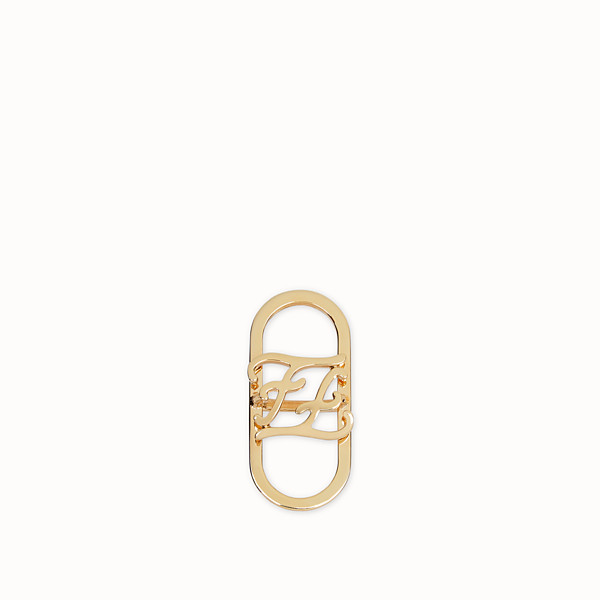 FENDI KARLIGRAPHY FOULARD RING - Gold-colour foulard ring - view 1 small thumbnail