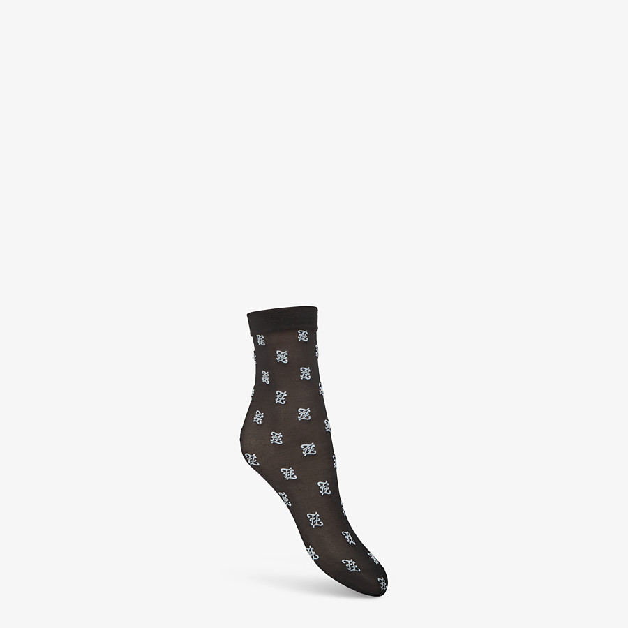 FENDI SOCKS - Black nylon socks - view 1 detail