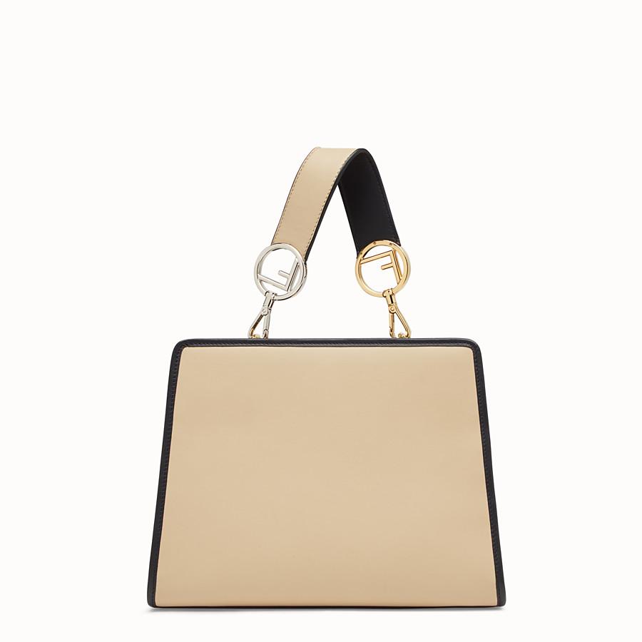 FENDI RUNAWAY SMALL - Beige leather bag - view 3 detail