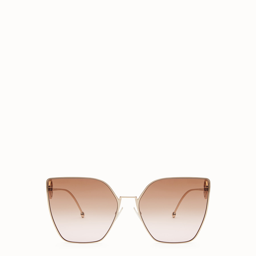 FENDI F IS FENDI - Gold-coloured sunglasses - view 1 detail
