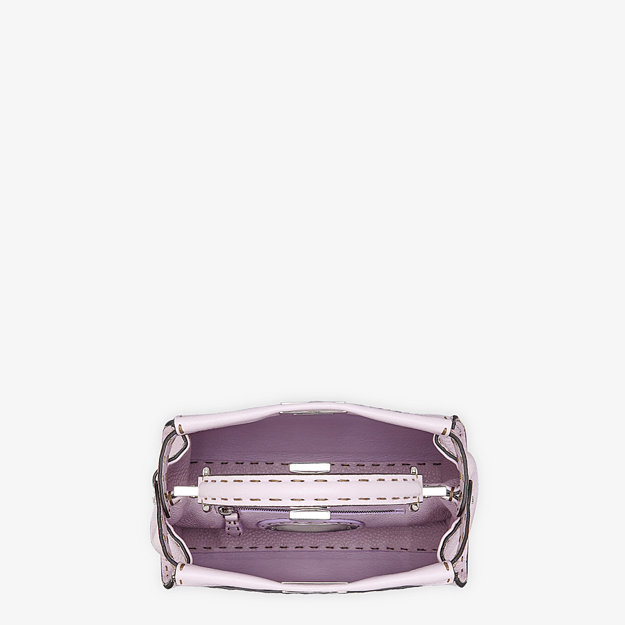 FENDI PEEKABOO ICONIC MINI - Lilac Cuoio Romano leather bag - view 5 detail