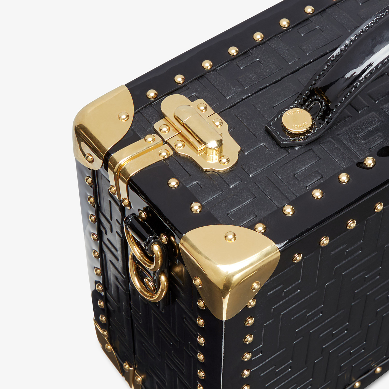FENDI SMALL TRAVEL BAG - Black leather suitcase - view 5 detail