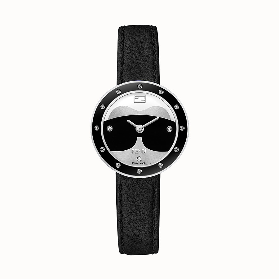 FENDI Fendi My Way Karlito - 28 mm - Watch with studs and fur Glamy - view 1 detail