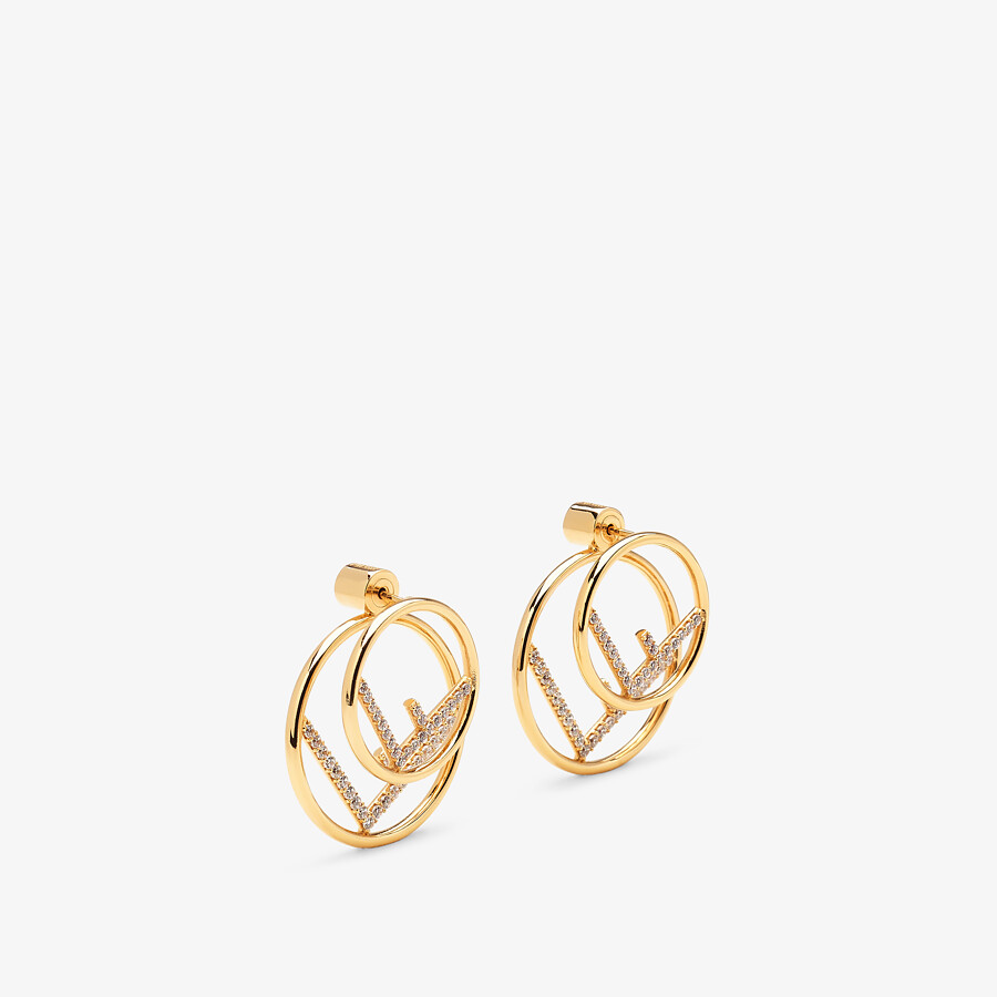 FENDI F IS FENDI EARRINGS - Gold-colored necklace - view 1 detail