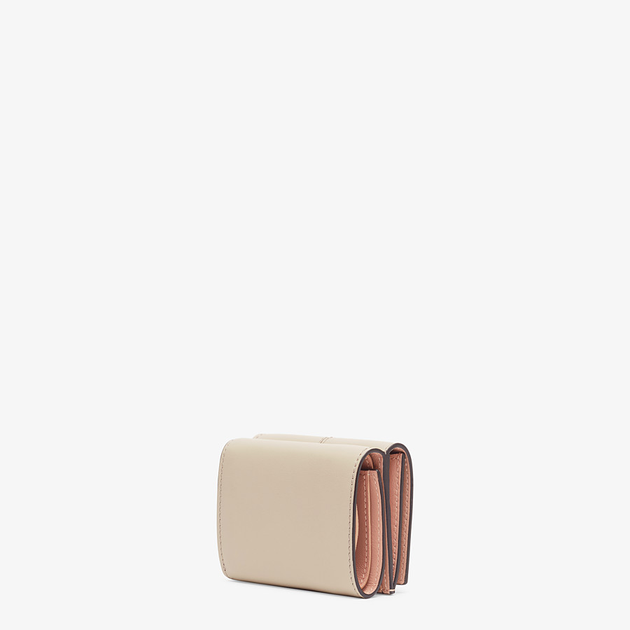 FENDI MICRO TRIFOLD - Beige leather wallet - view 2 detail