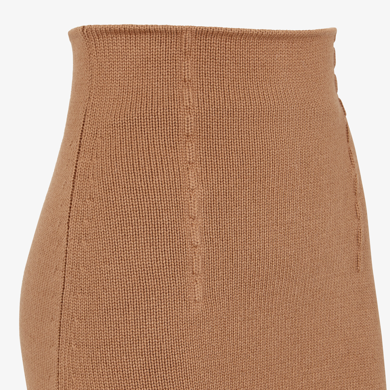 FENDI SKIRT - Brown cashmere skirt - view 3 detail