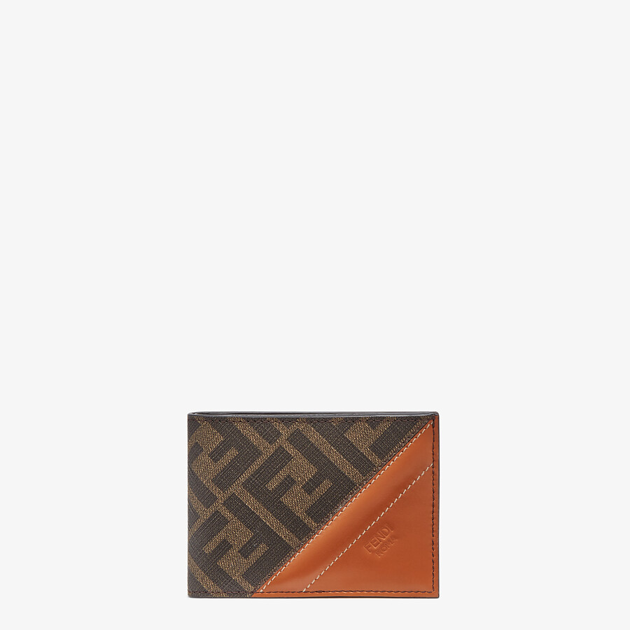FENDI US DOLLAR WALLET - Brown fabric bi-fold - view 1 detail