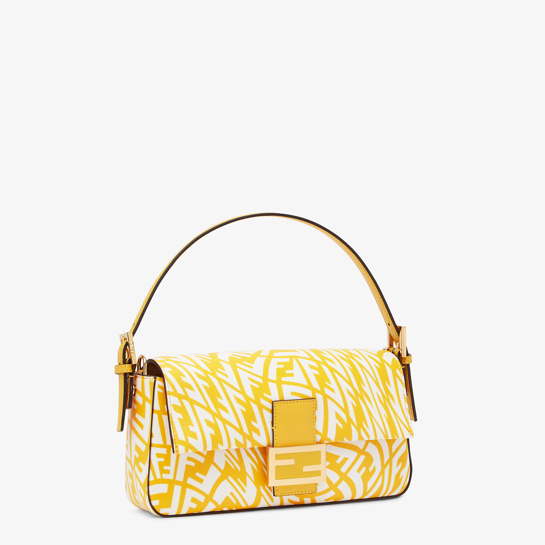 FENDI BAGUETTE 1997 - Yellow glazed canvas bag - view 3 detail