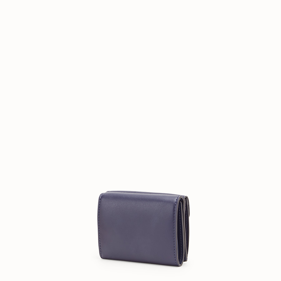 FENDI MICRO TRIFOLD - Blue leather wallet - view 2 detail