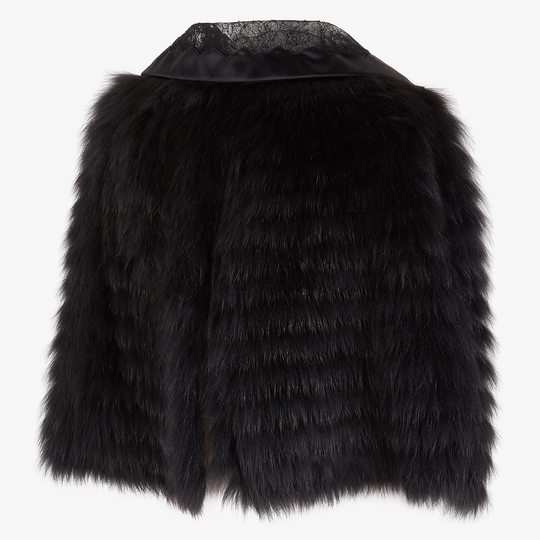 FENDI CAPE - Black fox fur cape - view 3 detail