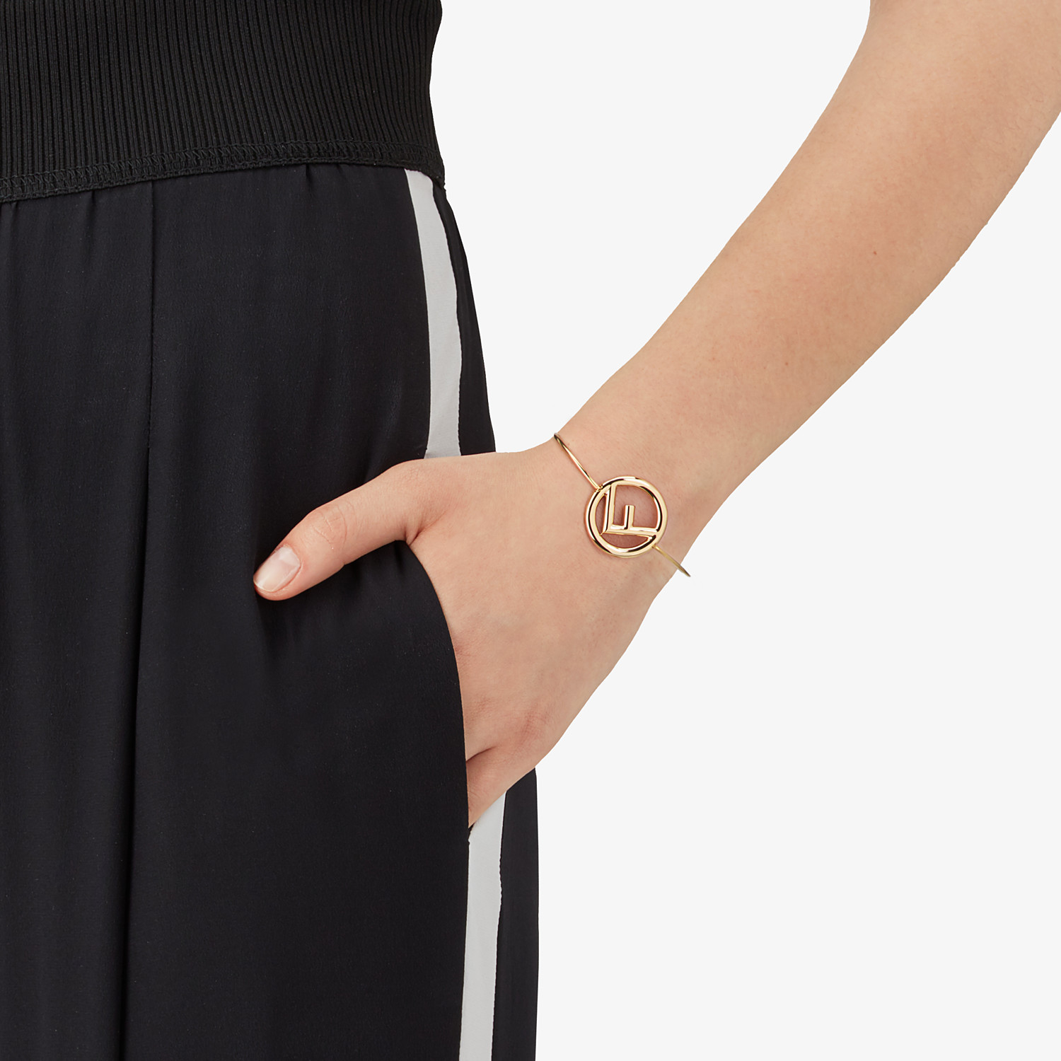 FENDI F IS FENDI BRACELET - Gold color bracelet - view 2 detail