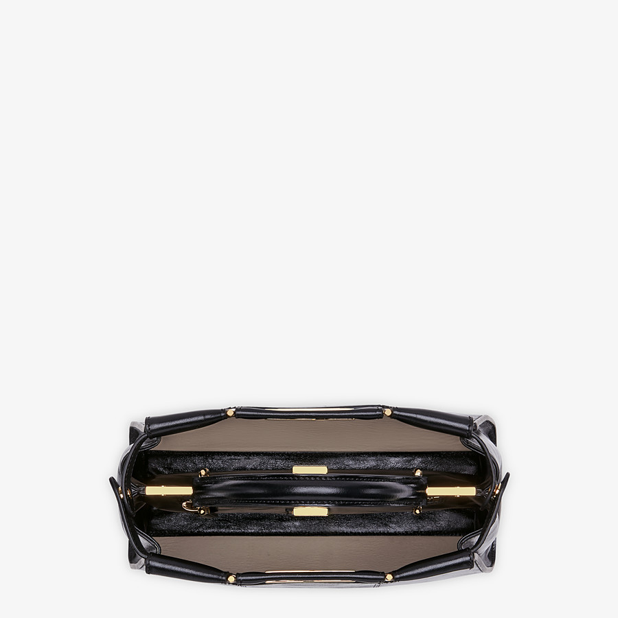 FENDI PEEKABOO ICONIC MEDIUM - Black leather bag - view 6 detail