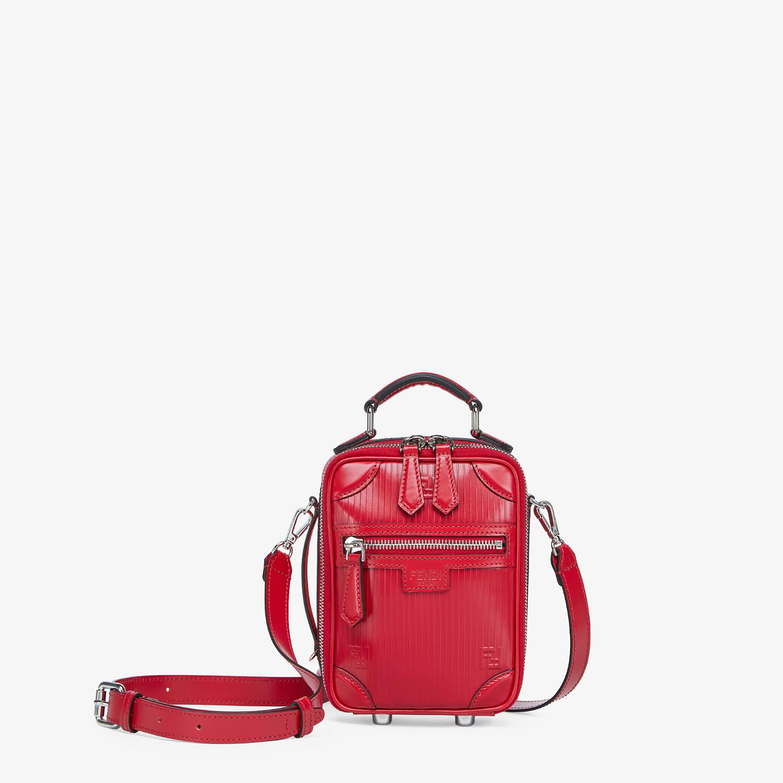 FENDI TRAVEL MINI BAG - Red leather bag - view 1 detail