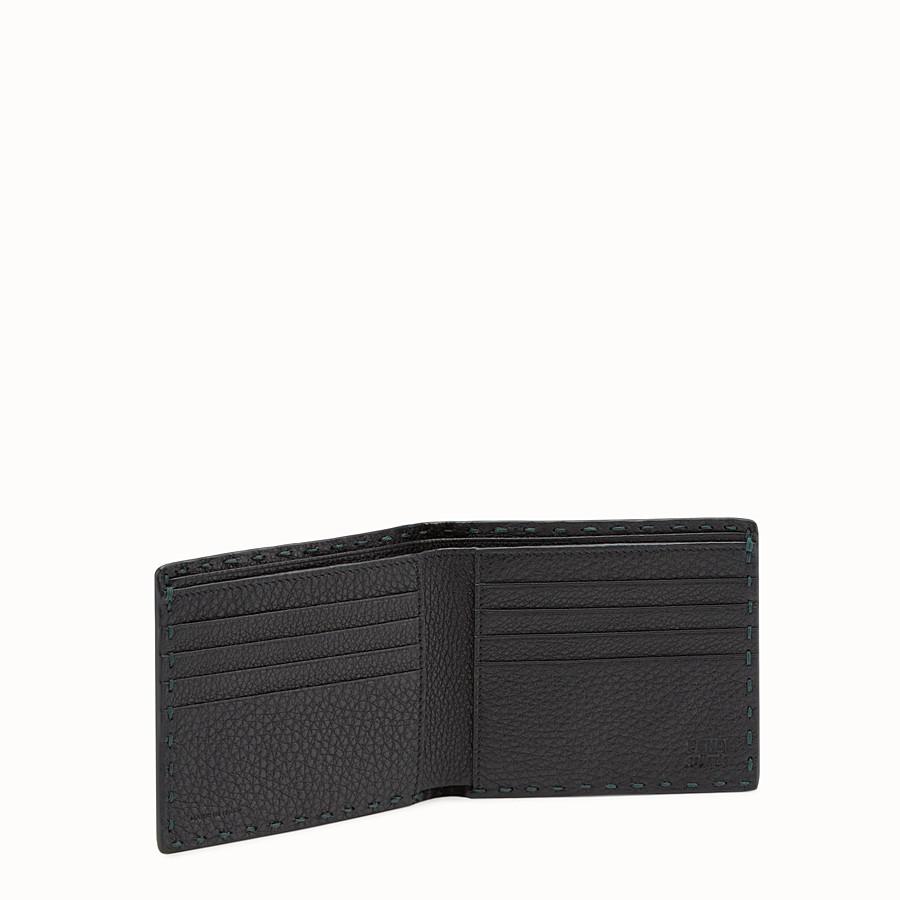 FENDI WALLET - Green leather Selleria bi-fold wallet - view 3 detail