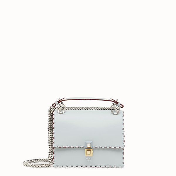 FENDI KAN I SMALL - Grey leather mini-bag - view 1 small thumbnail