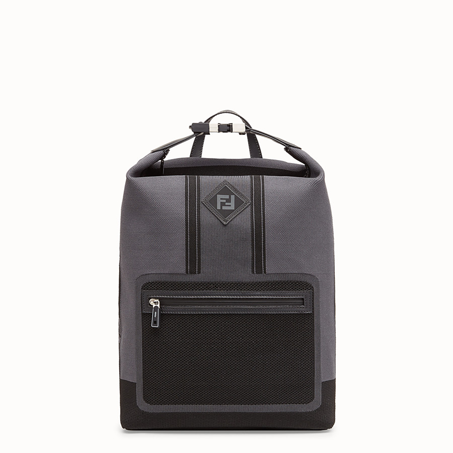 FENDI BACKPACK - Grey tech knit backpack - view 1 detail
