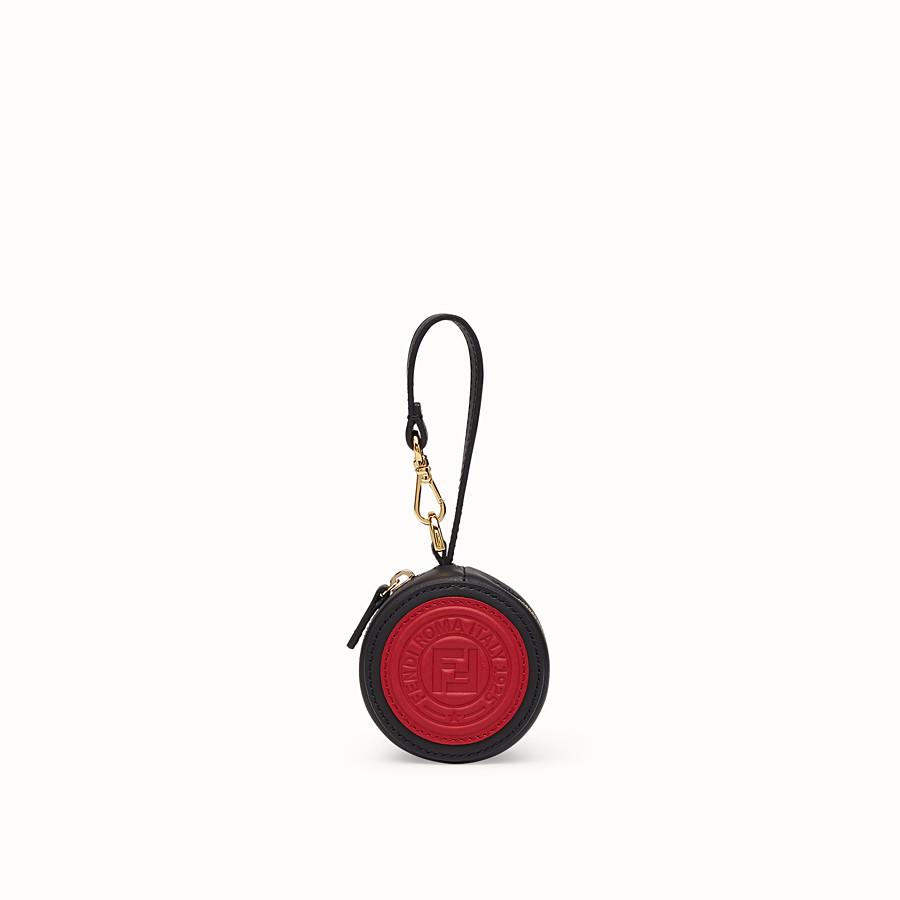 da75134accd8 Black leather charm - HELP BAG CHARM