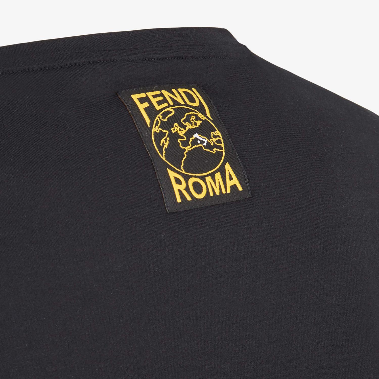 FENDI T-SHIRT - Multicolor cotton T-shirt - view 3 detail