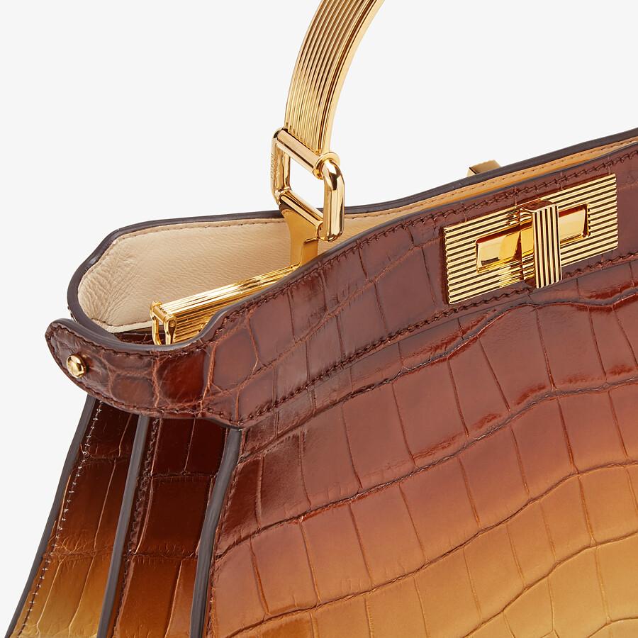 FENDI PEEKABOO ISEEU MEDIUM - Crocodile leather bag in three colors - view 6 detail