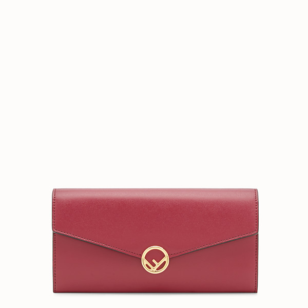 FENDI CONTINENTAL WITH CHAIN - Red leather wallet - view 1 small thumbnail