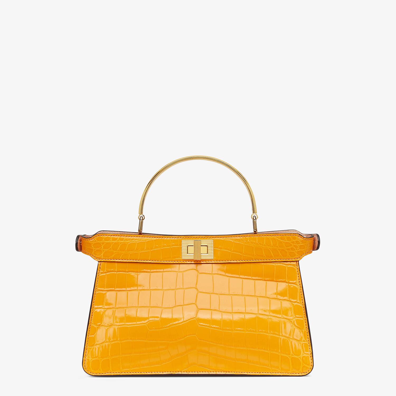 FENDI PEEKABOO ISEEU EAST-WEST - Orange crocodile leather bag - view 3 detail