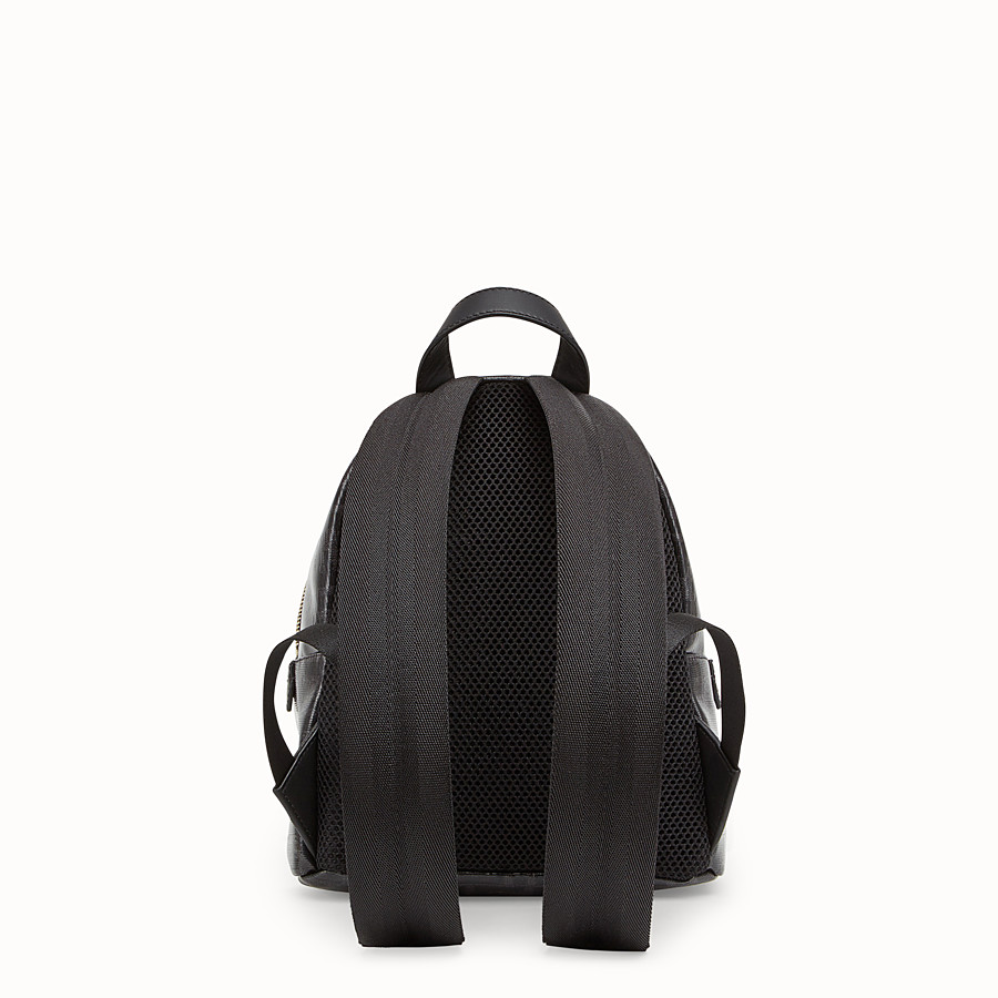 FENDI MINI BACKPACK - Small black canvas backpack - view 3 detail