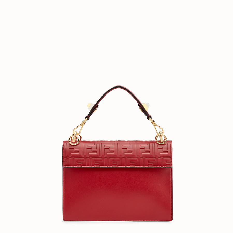 FENDI KAN I - Sac en cuir rouge - view 3 detail