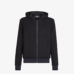 FENDI SWEATSHIRT - Black jersey sweatshirt - view 1 thumbnail