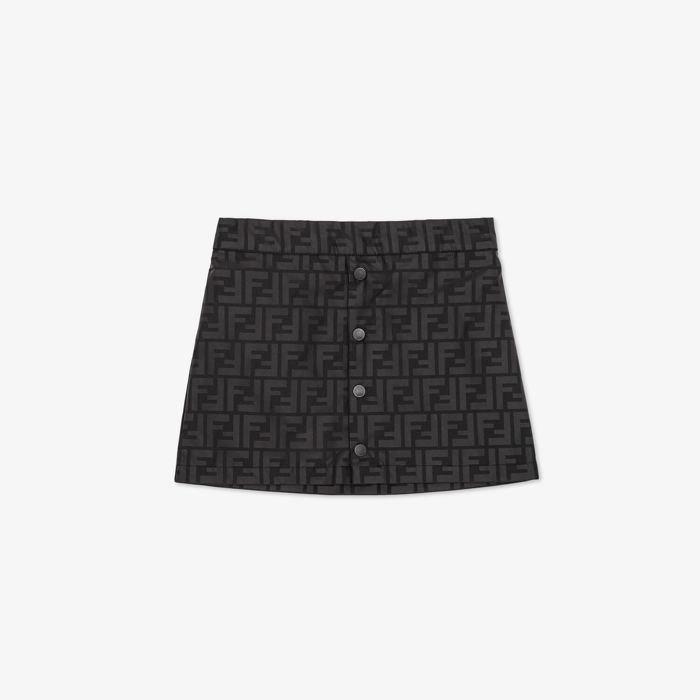 FENDI JUNIOR SKIRT - Matt black nylon junior skirt - view 1 detail