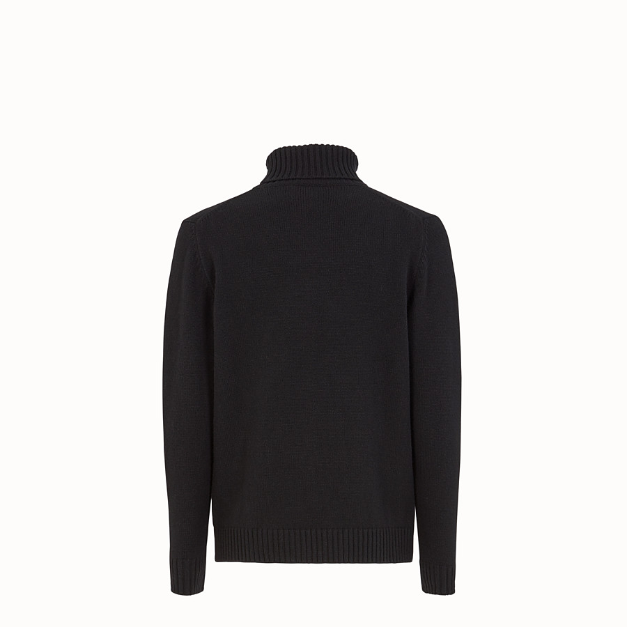FENDI PULLOVER - Black cashmere sweater - view 2 detail
