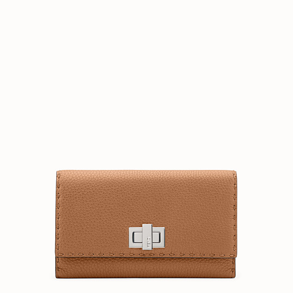 FENDI CARTERA - Selleria de piel romana de color toffee - view 1 small thumbnail