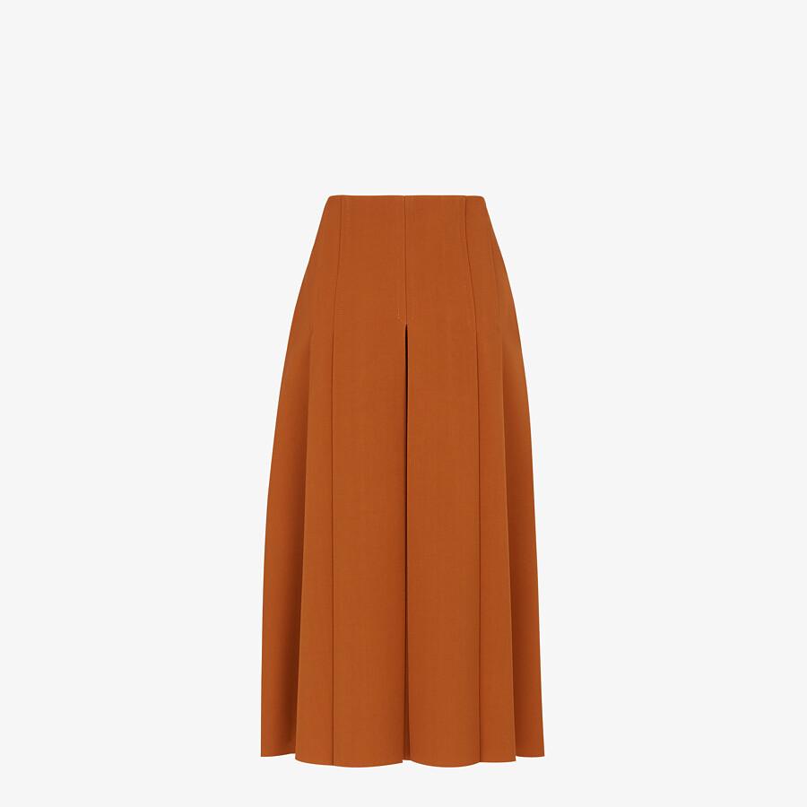 FENDI SKIRT - Brown gabardine skirt - view 2 detail