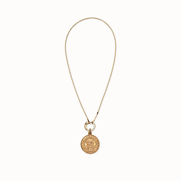 FENDI KARLIGRAPHY NECKLACE - Gold-color necklace - view 1 small thumbnail