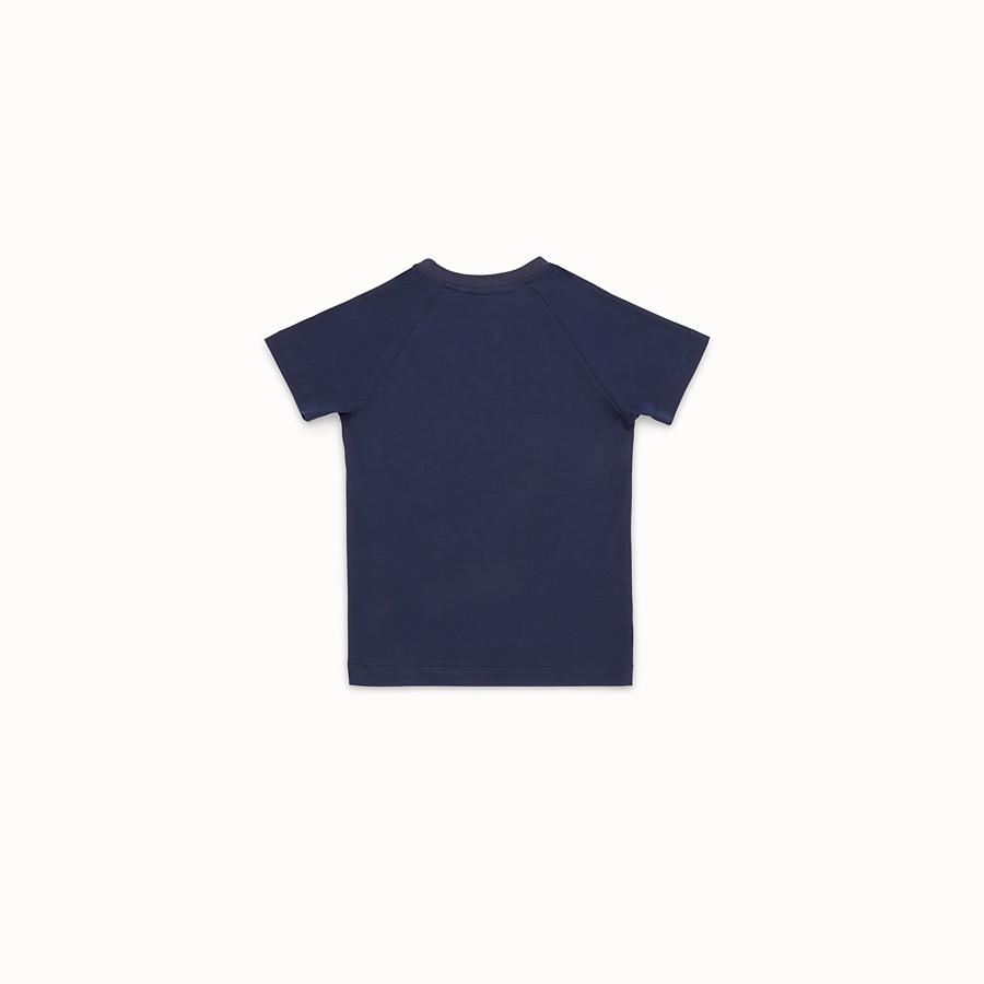 FENDI T-SHIRT - T-Shirt aus blauem Jersey - view 2 detail