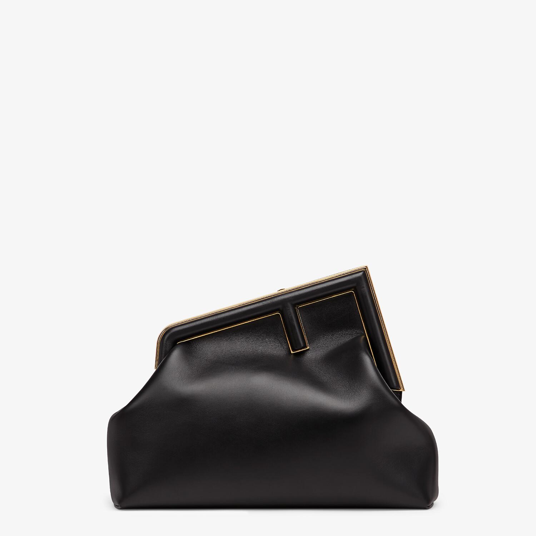 FENDI FENDI FIRST MEDIUM - Black leather bag - view 1 detail
