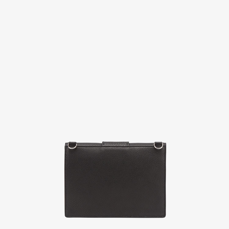 FENDI FLAT BAGUETTE - Black leather bag - view 3 detail