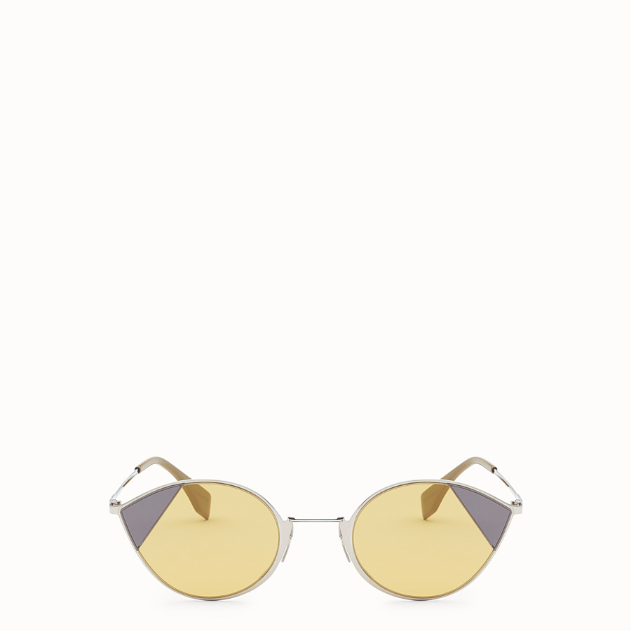 FENDI CUT-EYE - A/W18 Fashion Show silver-coloured sunglasses - view 1 detail