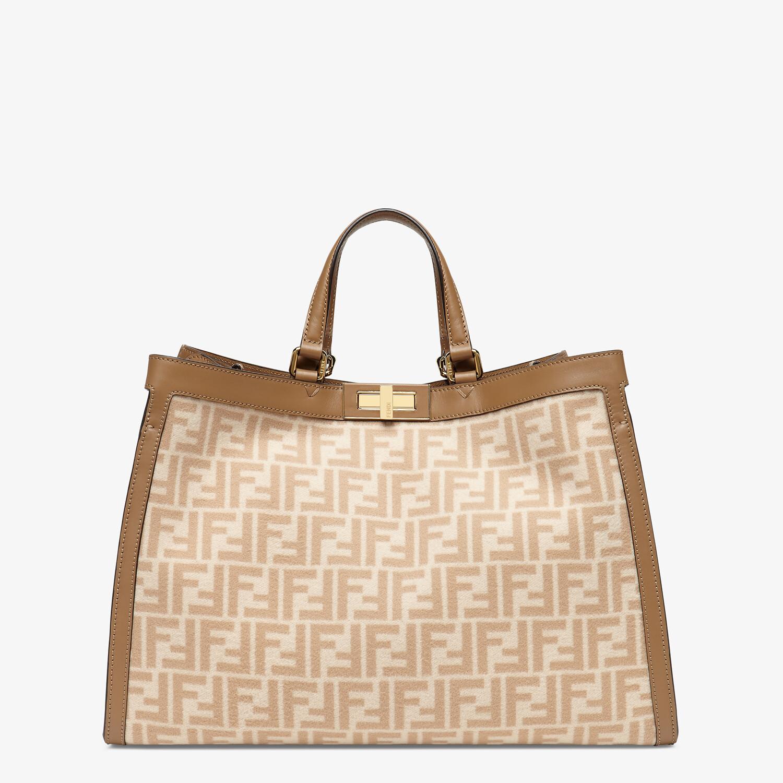 FENDI PEEKABOO X-TOTE - Beige FF wool bag - view 1 detail
