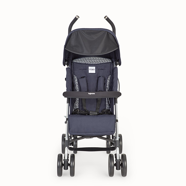 FENDI PUSHCHAIR - Pushchair in blue fireproof material with FF motif - view 1 small thumbnail