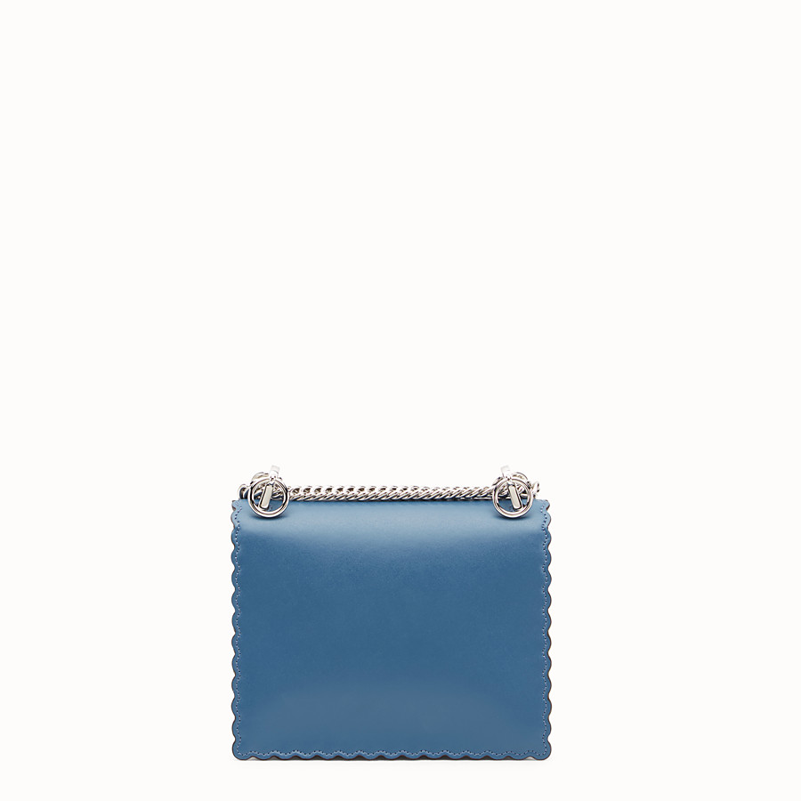 FENDI KAN I SMALL - Blue leather mini-bag - view 3 detail