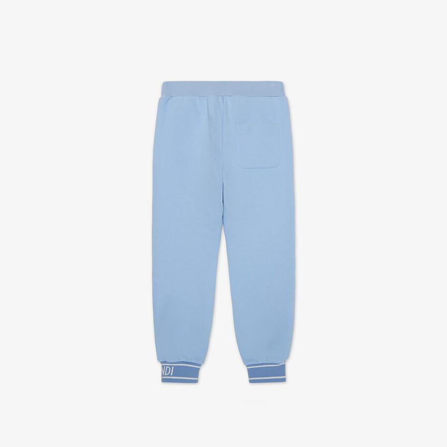 FENDI JUNIOR PANTS - Light blue junior fleece pants - view 2 detail