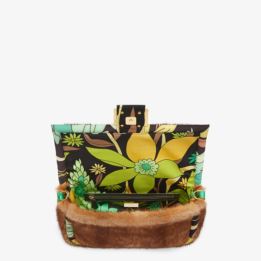 FENDI BAGUETTE - Tasche aus Nerz in Braun - view 5 detail